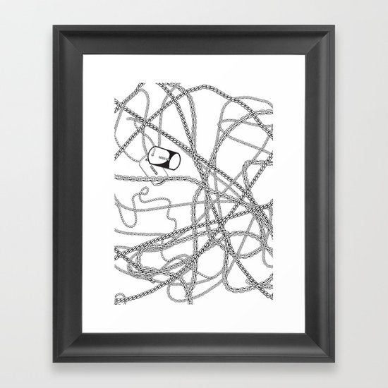 TENDER LOVE Framed Art Print
