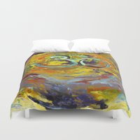 om Duvet Covers featuring OM by Seema