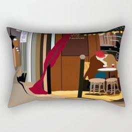 Romance Outside the Paris Cafe Rectangular Pillow