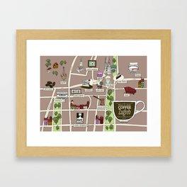 Zagreb Coffee Map Framed Art Print
