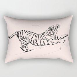 Tiger and Sun I. Rectangular Pillow