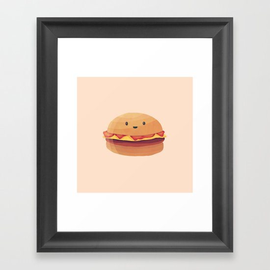 Burger Buddy Framed Art Print