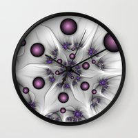 fractal Wall Clocks featuring Fractal by gabiw Art