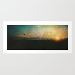 Barcelona Sundown Art Print