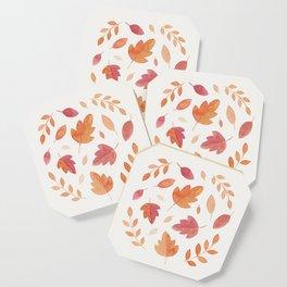 Fall bundle of leaves Coaster