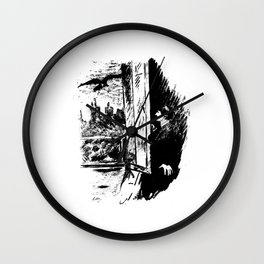 Edouard Manet - The raven by Poe 2 Wall Clock