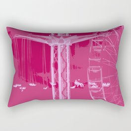 Carnival Rides - Pink Hues Rectangular Pillow