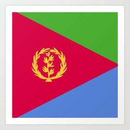 Eritrea flag emblem Art Print