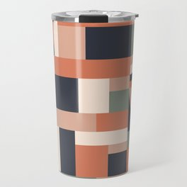 Earth Tones Blocks Travel Mug