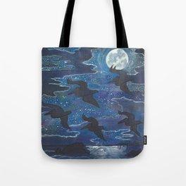 Pelicans in the Moonlight Tote Bag