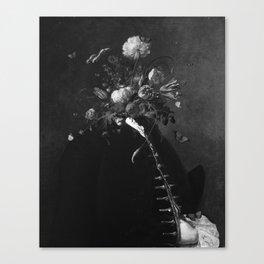 flower facade black version Canvas Print
