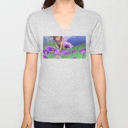 Violet Meadows Unisex V-Neck