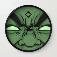 hulk Wall Clocks featuring Hulk by illustrationsbynina