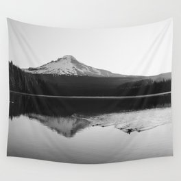 Wild Mountain Sunrise - Black and White Nature Photography Wall Tapestry