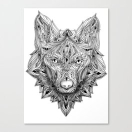 Ornament Wolf Canvas Print