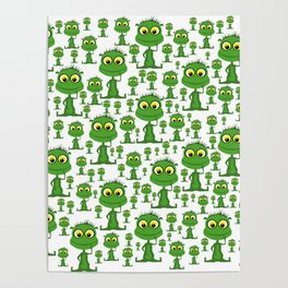 Population: Snood - Aliens - Outerspace - 57 Montgomery Ave Poster
