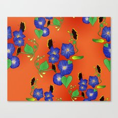 Morning Glories & Mourning Cloaks Canvas Print