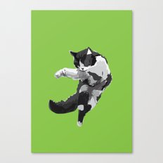 Dancing Cat Canvas Print