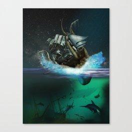 Kraken Attack Canvas Print