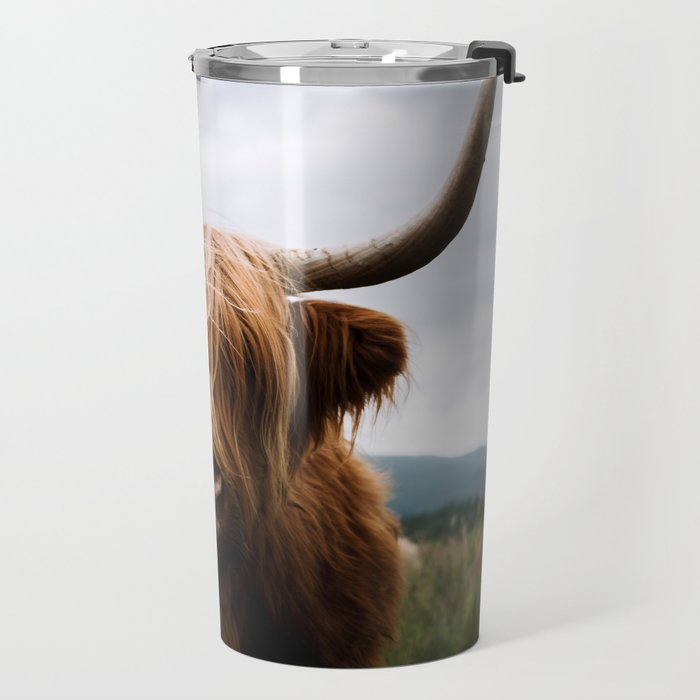 Scottish Highland Cattle in Scotland Portrait II Travel Mug