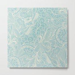 Tender doily pattern Metal Print