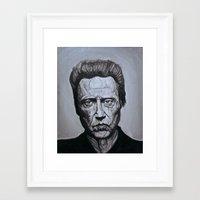 christopher walken Framed Art Prints featuring Christopher Walken by Steenk