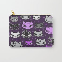 Purple Rockabilly Cats Carry-All Pouch