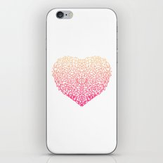 Pink Heart - Light White background iPhone & iPod Skin