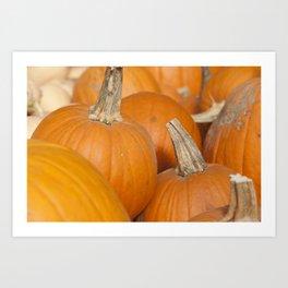 Orange Pumpkins for Halloween Art Print