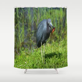 Little Blue´s Lunch Shower Curtain