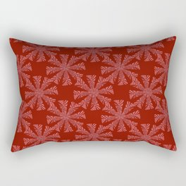 ice crystals on red background Rectangular Pillow