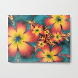 Chintz Flowers Metal Print