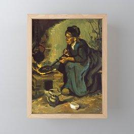 Peasant Woman Cooking by Vincent van Gogh, 1885 Framed Mini Art Print