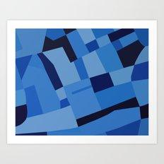 Peckham Blue Art Print