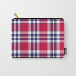 Big Red Plaid Carry-All Pouch