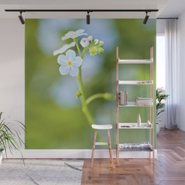 Delicate blue flowers Wall Mural