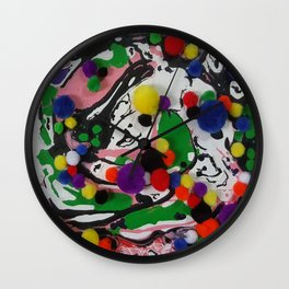 COLOURS ABSTRACT Wall Clock