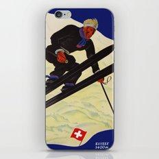 Vintage Adelboden Switzerland - Ski Jump iPhone Skin