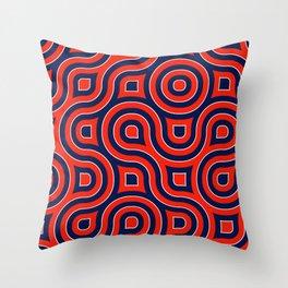 Red Deep blue spirale Throw Pillow