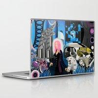 cyberpunk Laptop & iPad Skins featuring Cyberpunk Aesthetics 3 by thomasalbany