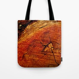 Wood Rings Tote Bag