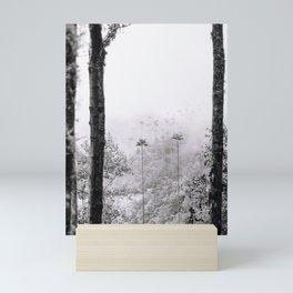 Black and white Palmtrees   Salento Colombia   Valle de Cocora   Fine-art Mini Art Print