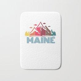 Retro Maine Mountain Design for Men Women and Kids Bath Mat