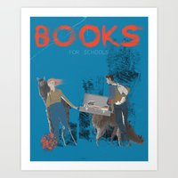 BOOKS FOR SCHOOLS Art Print