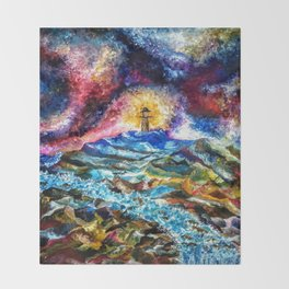 Lighthouse Landscape Throw Blanket