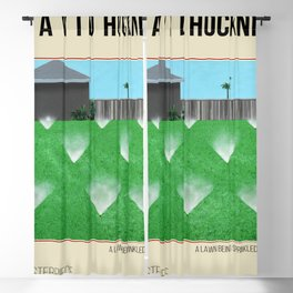 David Hockney, A Lawn Being Sprinkled, 1967, Art Exhibition Poster Blackout Curtain