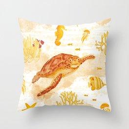 Hawksbill Sea Turtles Throw Pillow
