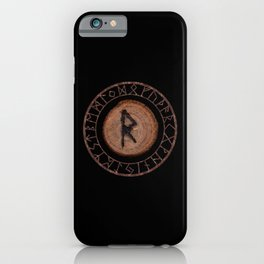 Raidho Elder Futhark Rune Travel, journey, vacation, relocation, evolution, change of place iPhone Case