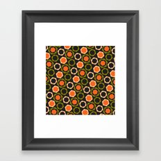 Geometric Pattern #161 (orange hexagons) Framed Art Print