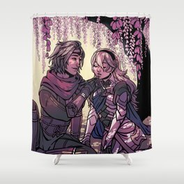 ninja boyfriend Shower Curtain